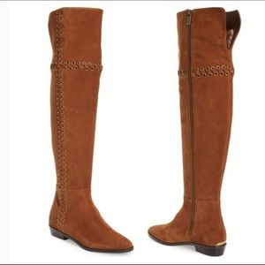 NWOT-Michael Kors Eyelet Laced Over the Knee Boot